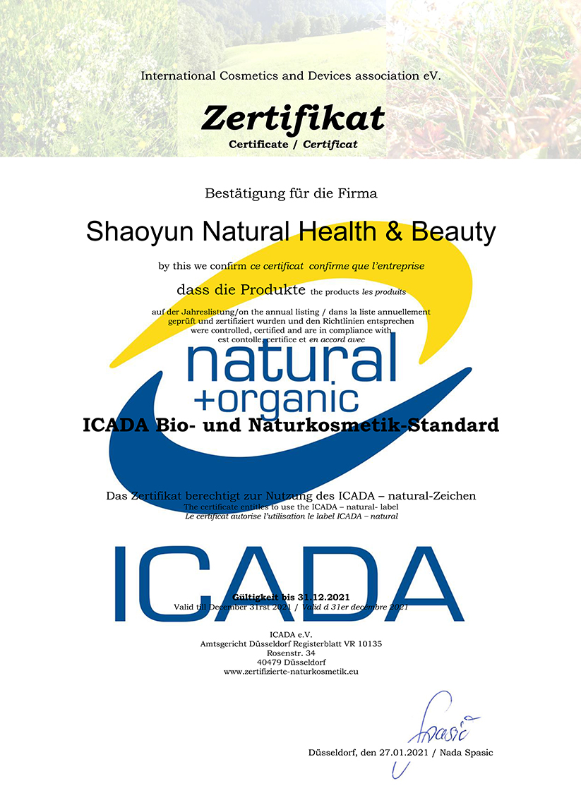 Zertifizierte Naturkosmetik | Shaoyun