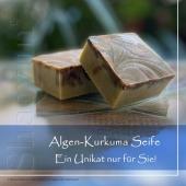 Algen-Kurkuma-Seife für Körper und Gesicht. Individuelle Formen, Farben und die Zusammensetzung macht jede Seife von Shaoyun zu einem unverwechselbaren Unikat. 🌿🌷😊 Inhaltsstoffe: Algen, Nachtkerzenöl, Hanföl, Sheabutter, Kokosläufer, Olivenöl, Lavendelöl, Blutorangenöl, Zitronenöl, Kurkuma, Cocosmilch, Kakao, Graniumöl, ...  #naturkosmetik #seife #handmade #seifenmanufaktur #shaoyuncosmetics #unik #unikat #körperpflege #hautpflege #kinder #einzigartig #soup #speyer #geschenke #europa #kurkuma #alge #coco #dusche #frau #girls