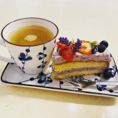 Lavendel-Kuchen & Ginseng-Tee, alles BIO von Shaoyun 😍🌿❤️ #kuchen #ginseng #shaoyun #natur #nice #liebe #naturkosmetik #cake #beauty #lifestyle #gesunderezepte #tcmernährung